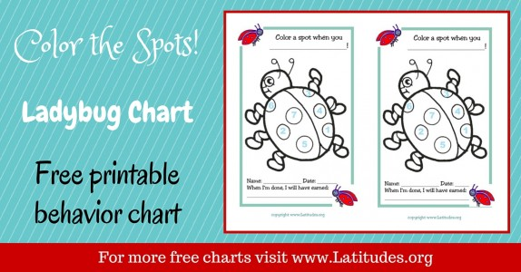 Color the Spots Ladybug Behavior Chart