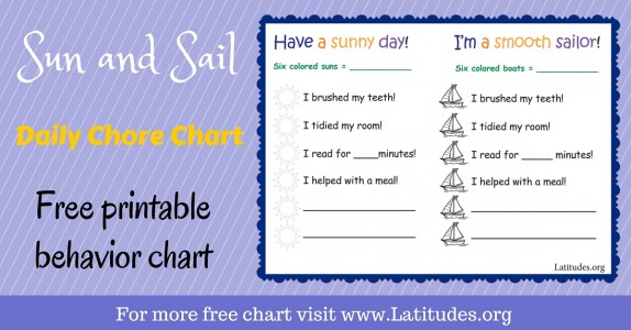 Sun and Sail Daily Chore Chart