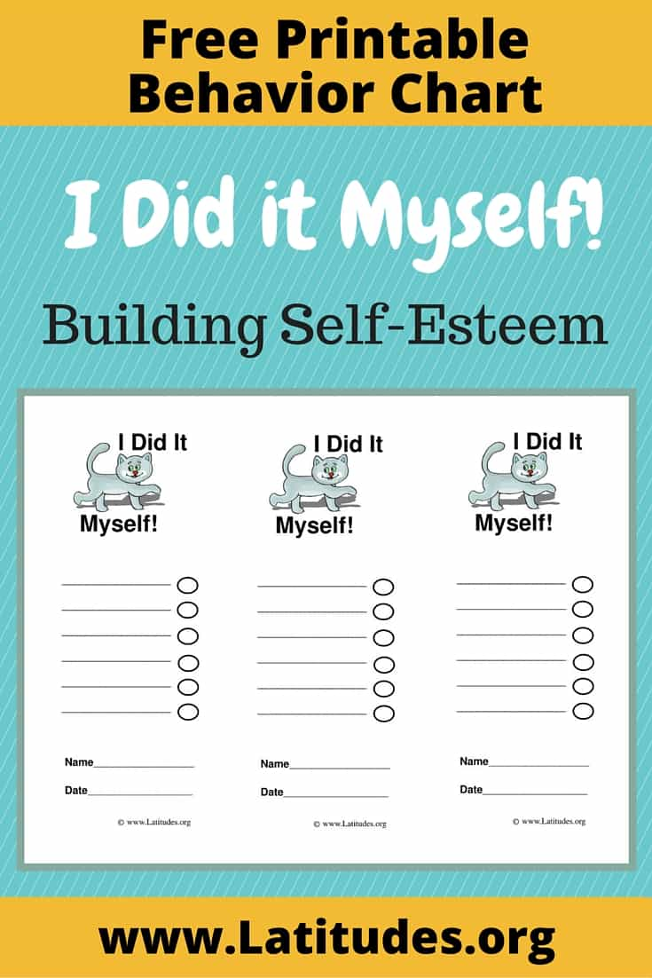 Building Self-Esteem - Did It Myself Behavior Chart Pinterest