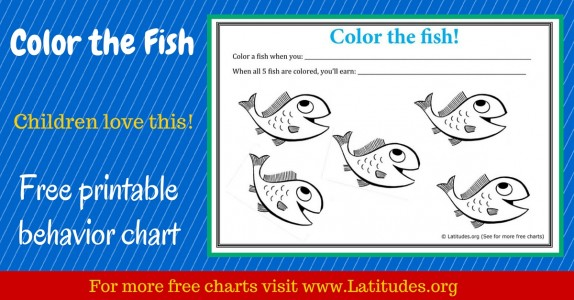 Color the Fish Behavior Chart