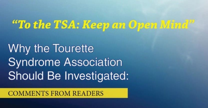 To the tourette syndrome association: please keep an open mind