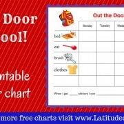 Out the Door to School Weekly Behavior Chart WordPress