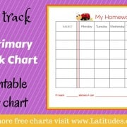 Stay on Track Weekly Printable Homework Chart