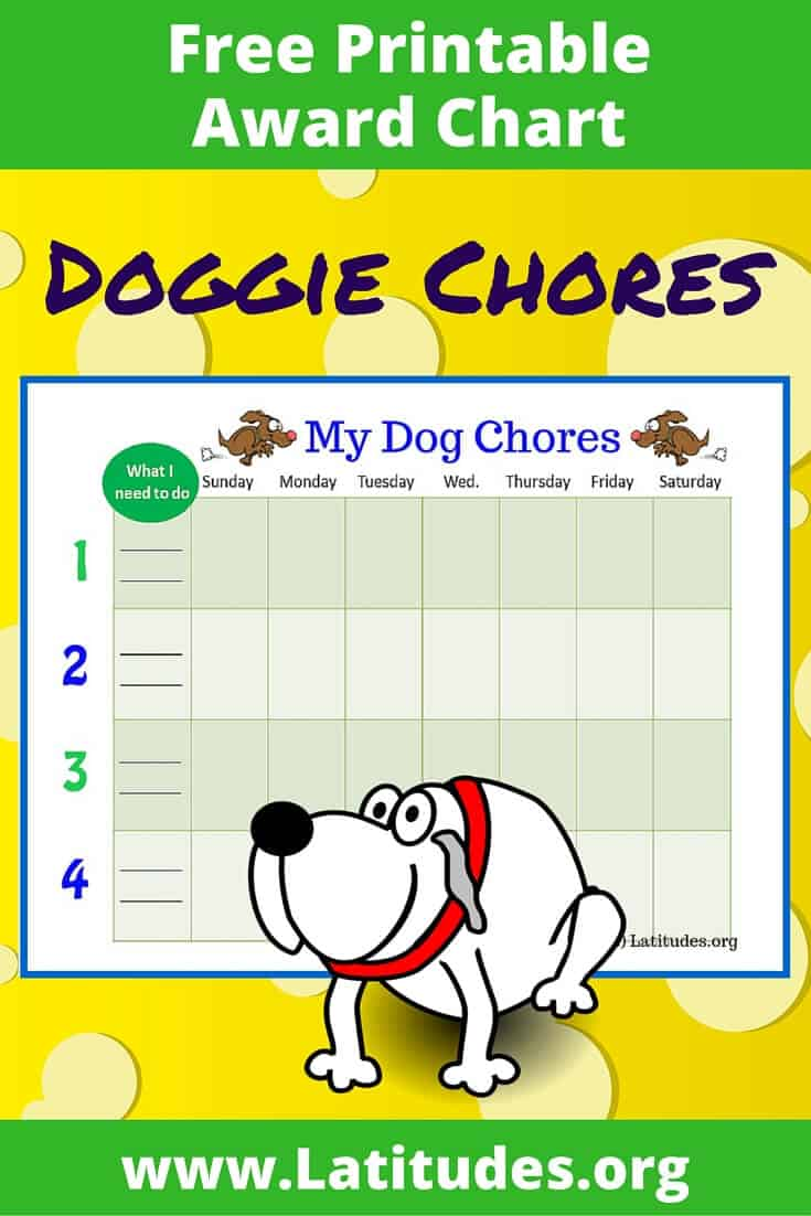 My Dog Weekly Chores Chart Pinterest