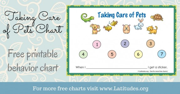 Taking Care of Pets Sticker Chart