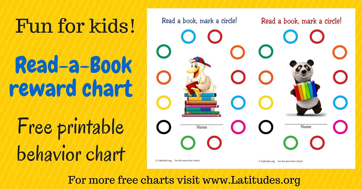 free reading incentive chart read a book acn latitudes