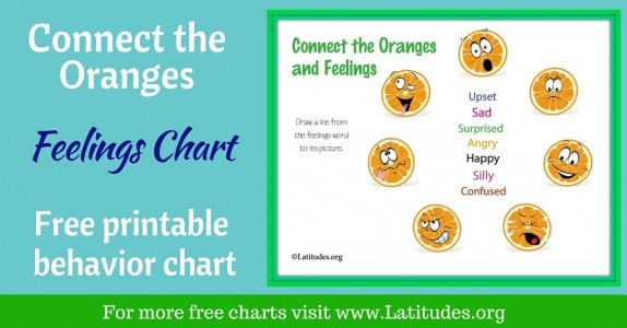 Connect the Oranges Feelings Chart