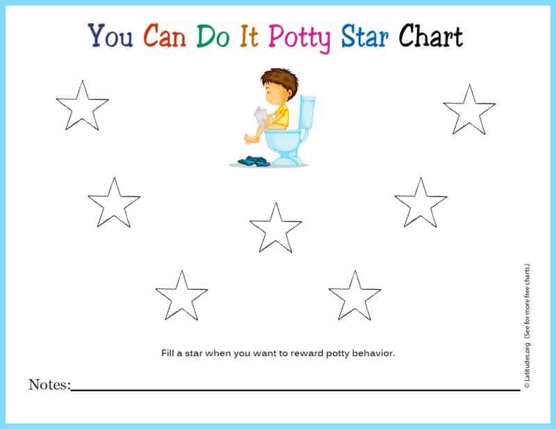 You Can Do It Potty Star Chart