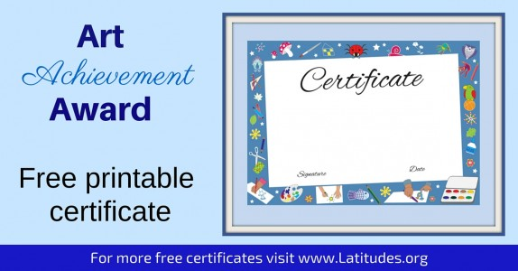 Art Achievement Certificate
