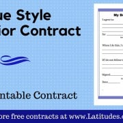 Blue Behavior Contract Wordpress