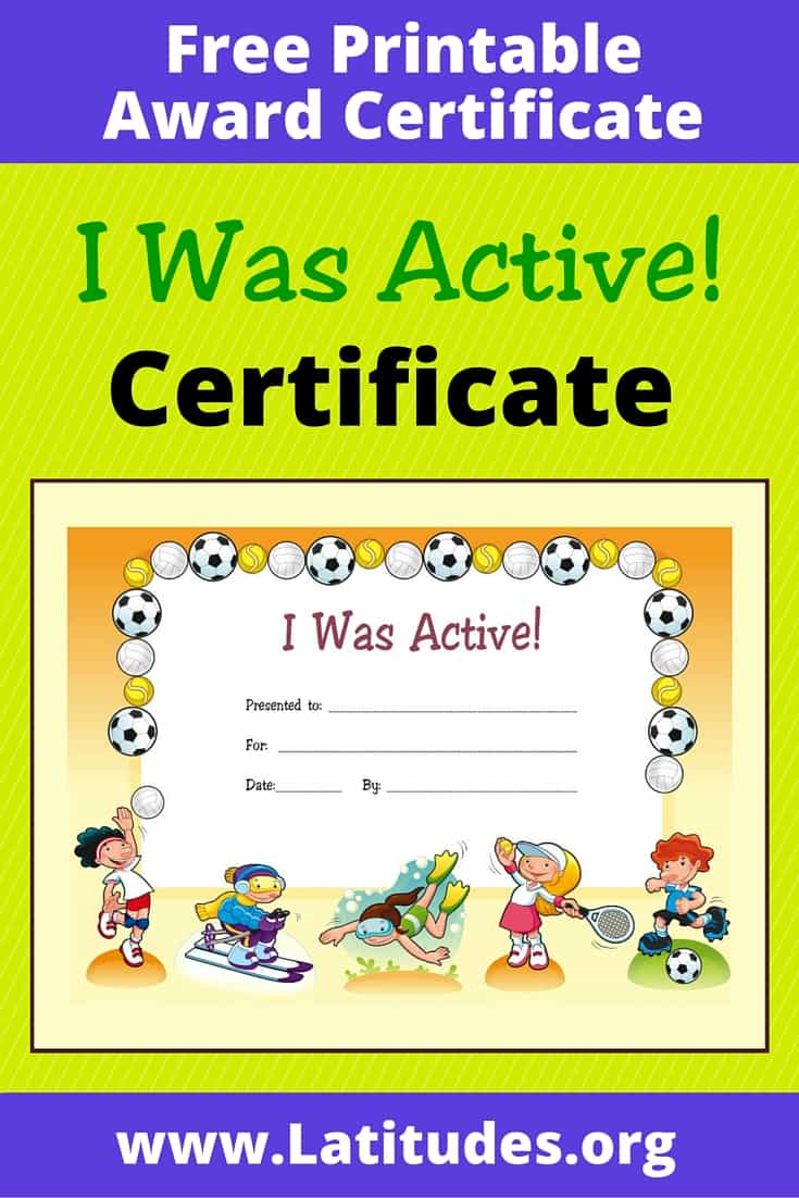 I Was Active Certificate Pinterest