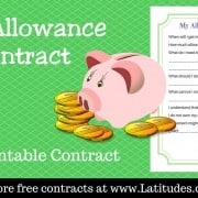 My Allowance Contract WordPress