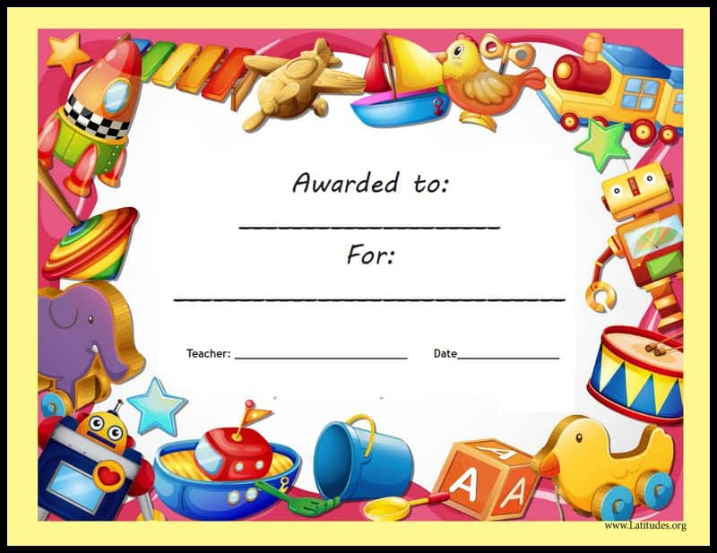 Star award certificate templates