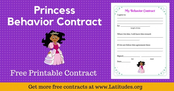 Princess Behavior Contract Wordpress