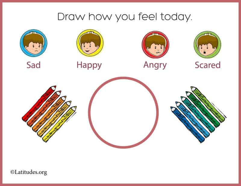 Simple Draw How You Feel Today Feelings Chart Border