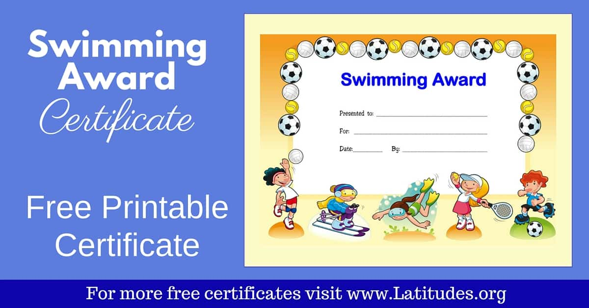 Printable Swimming Certificates Pictures to Pin on Pinterest ...
