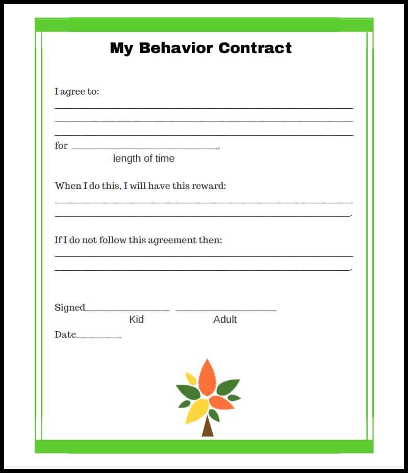 Tree Behavior Contract Border