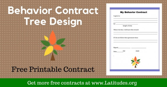 FREE Printable Behavior Contracts for Students – Behavior Contract