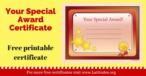 Your Special Award Certificate WordPress
