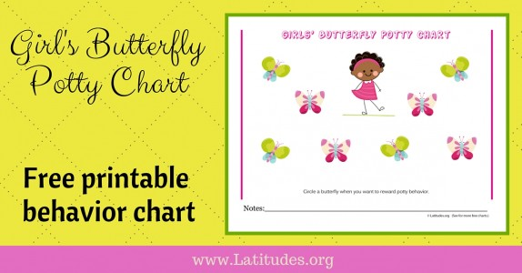 Girls Butterfly Potty Chart WordPress