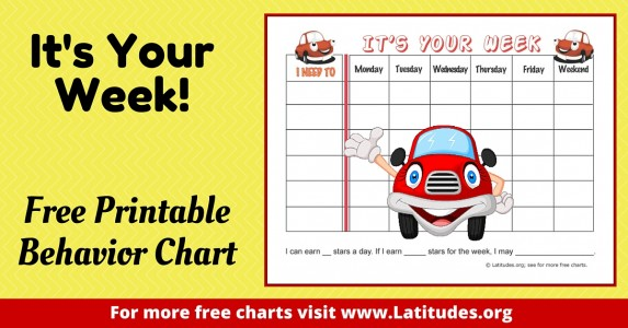It's Your Week Behavior Chart WordPress