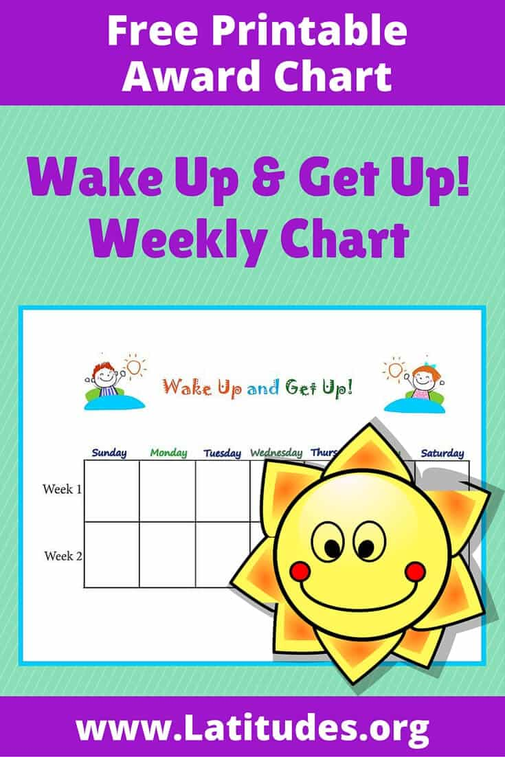 Primary Wake Up and Get Up Chart Pinterest