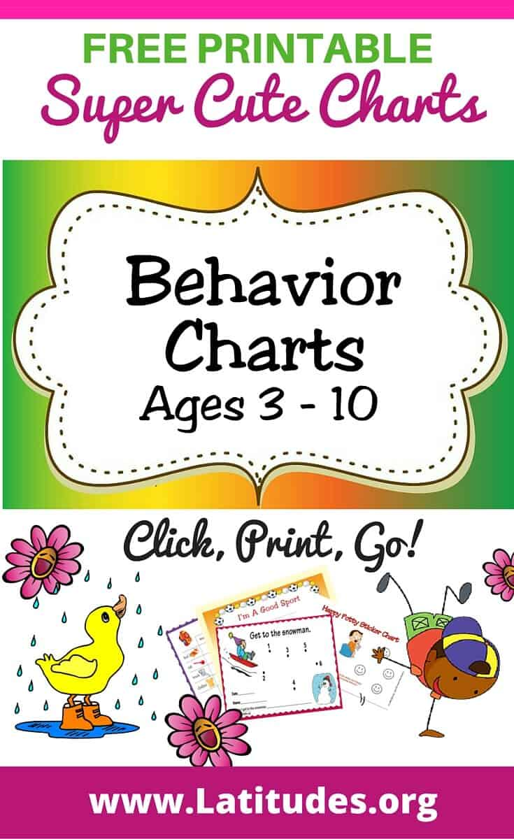Behavior Charts Ages 3 - 10 Pinterest