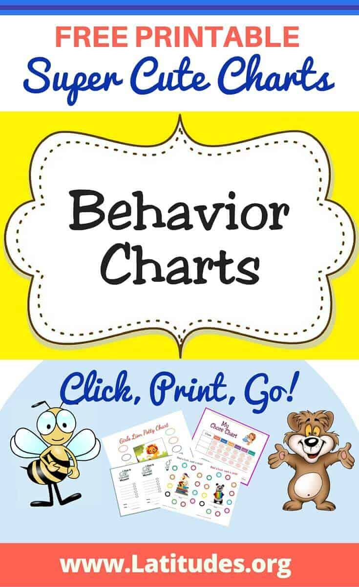Classroom Design And How It Influences Behaviour ~ Free printable behavior charts for teachers students