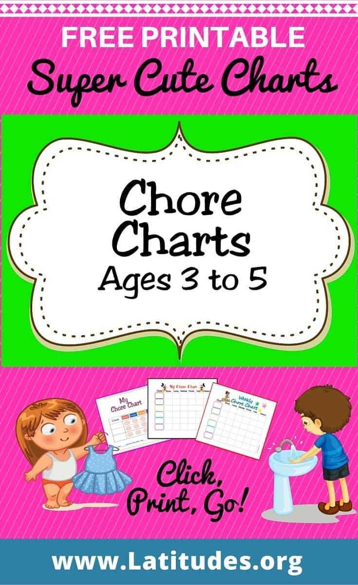 Chore Charts Ages 3 to 5 Pinterest