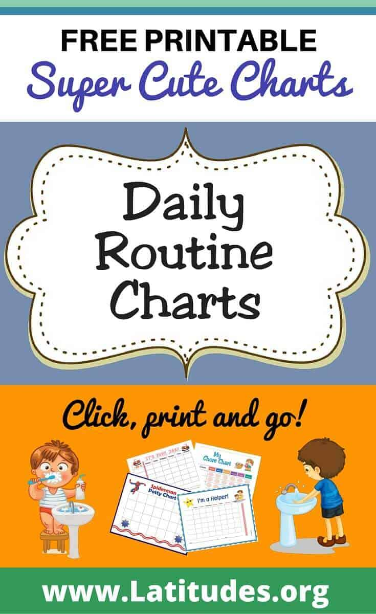 Daily Routine Charts Pinerest