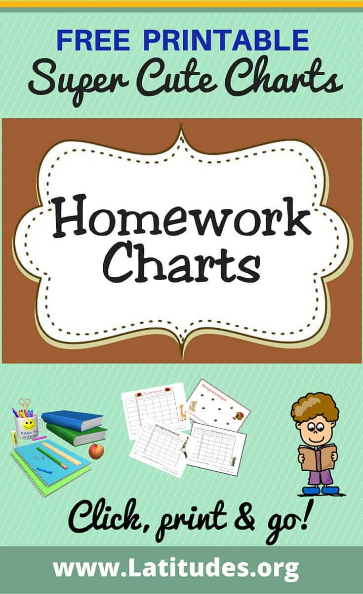 Free homework chart for classroom