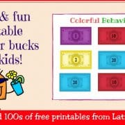 Free Colorful Behavior Bucks WordPress