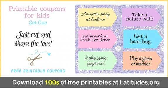 Reward Incentive Coupons Set 1