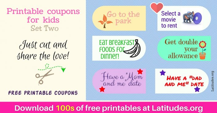 Reward Incentive Coupons Set 2