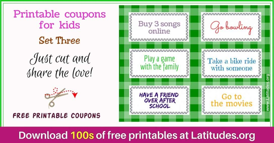 Reward Incentive Coupons Set 3