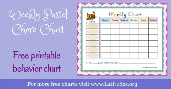 Free Printable Behavior Charts For Teachers & Students (4Th - 6Th