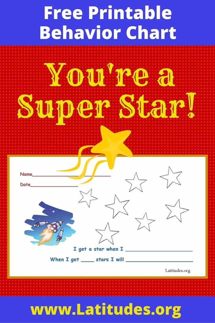 FREE Super Star Behavior Chart