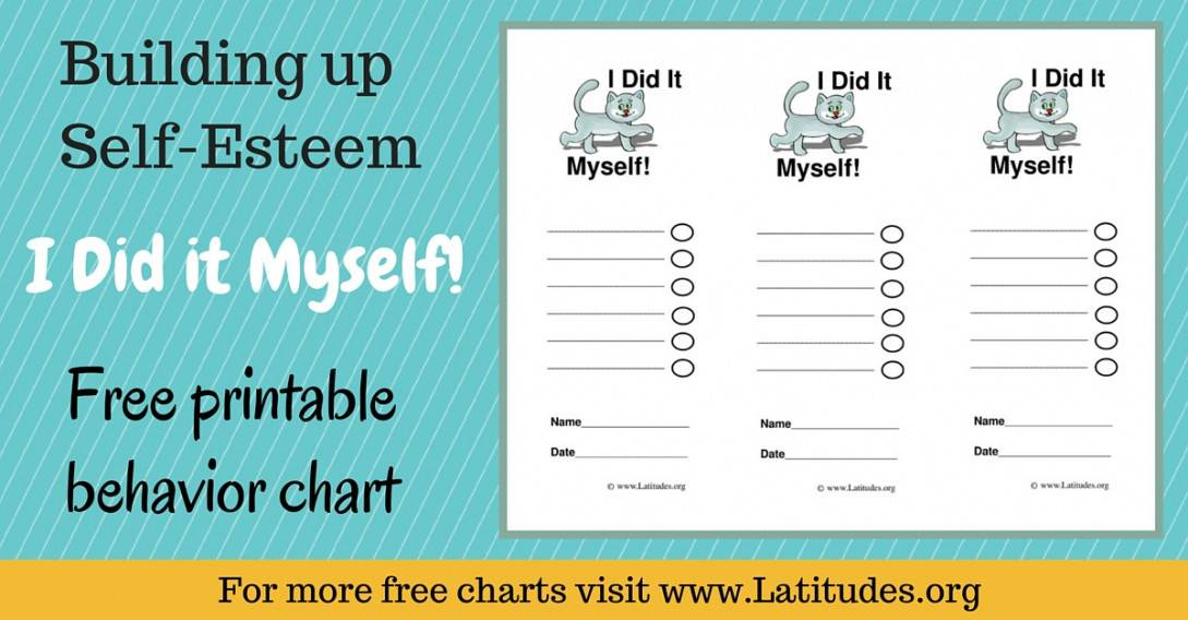 Building Self-Esteem - Did It Myself Kitten Behavior Chart