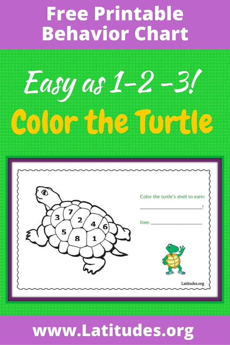 FREE Color the Turtle's Back Behavior Chart