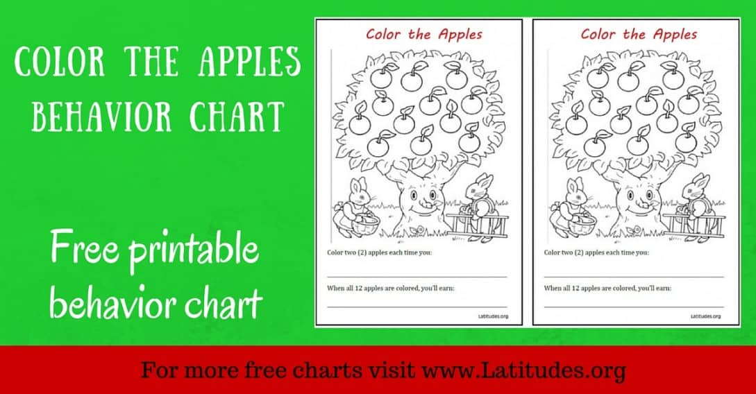 Color the Apples Behavior Chart