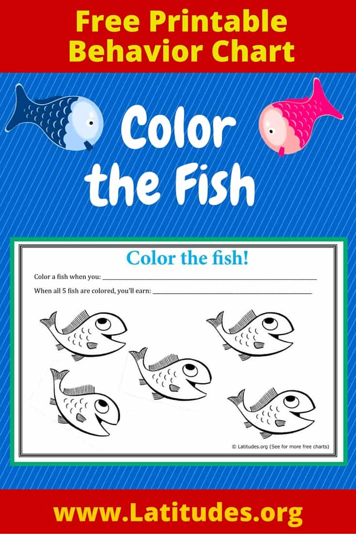 FREE Color the Fish Behavior Chart