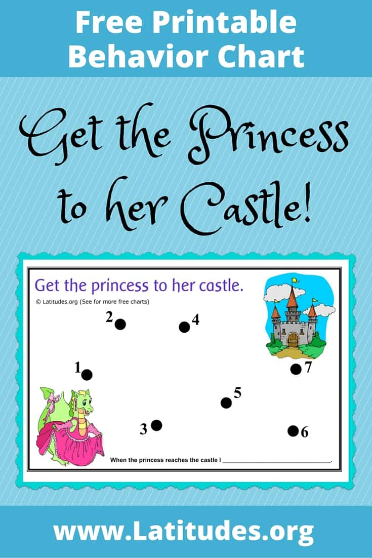 FREE Princess to Her Castle Behavior Chart