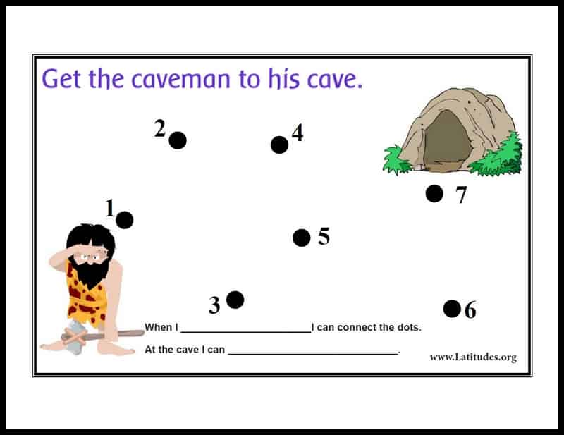 Free Printable Step-By-Step Behavior Chart: Caveman to Cave