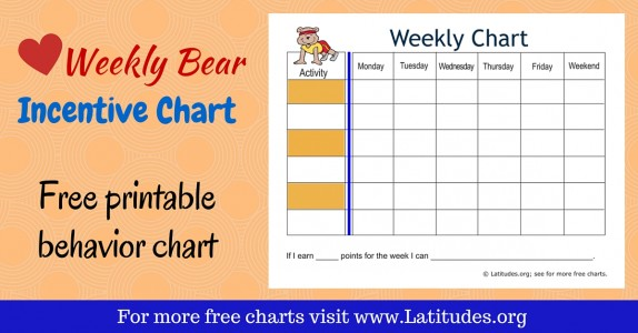 Free Printable Behavior Charts For Teachers  Students Th Grade