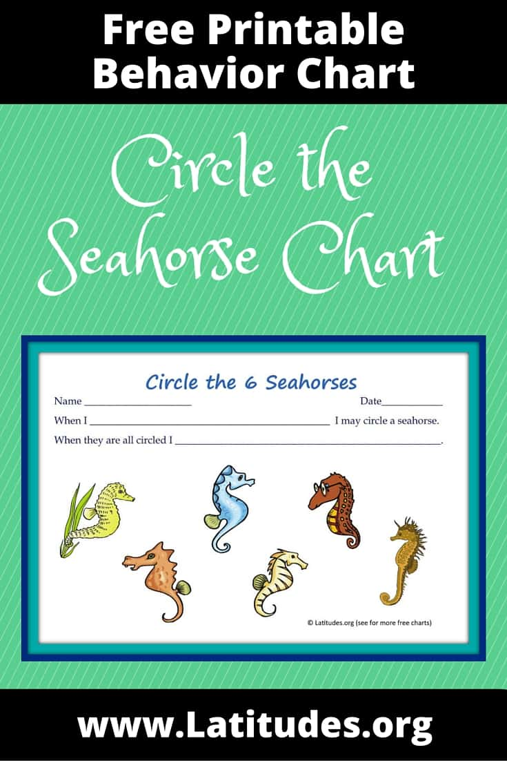 Circle the Seahorse Behavior Chart Pinterest