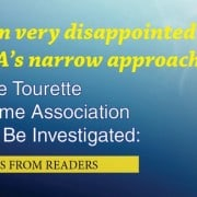 Dont miss these comments from our tourette syndrome association series