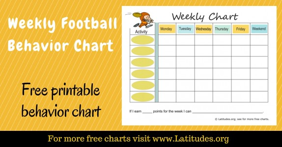 Weekly Football Behavior Chart