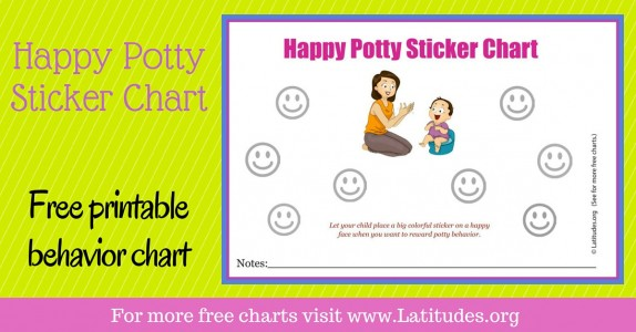 Happy Potty Sticker Behavior Chart WordPress