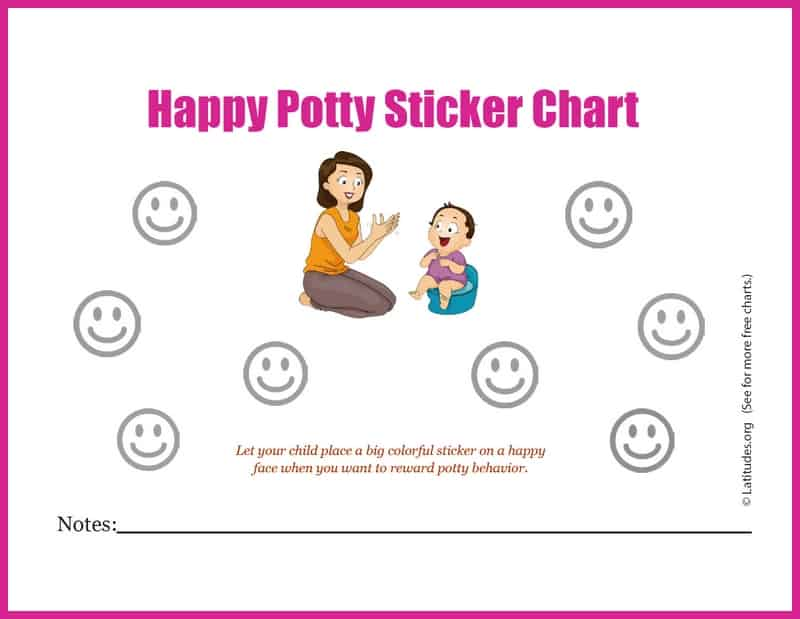Potty Training Sticker Behavior Chart