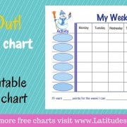 Snowman Weekly Behavior Chart WordPress